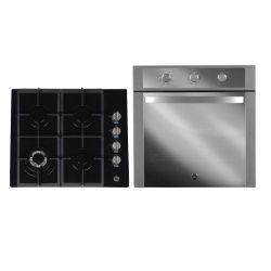 Combo Horno a Gas 60 cm Inoxidable GE Appliances - HGGE6053I + Anafe a gas 60 cm Vidrio Negro GE Appliances - AGGE60GOG