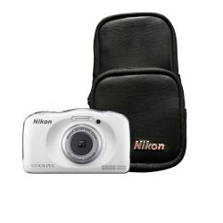 Cámara Digital Nikon W100 13.2 MP 3x Zoom Video Full HD a prueba de Agua Kit Blanca