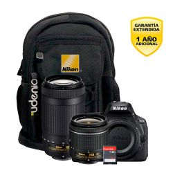 Cámara Nikon D5600 DX 24.2MP Video Full HD Super Kit 18-55 + 70-300mm
