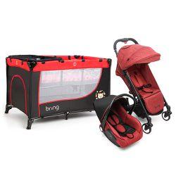 Combo Practicuna Bring 6101 Rojo + Travel System Bring 5205 Rojo