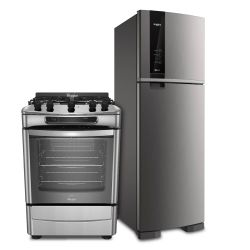 Combo Whirlpool Heladera No Frost WRM54AK 426 Lt + Cocina WF360XG