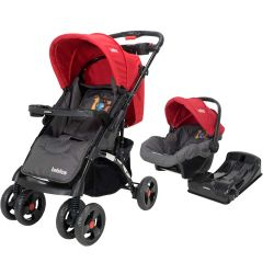 Cochecito de Bebé Bebitos BE N719 Rojo + Huevito