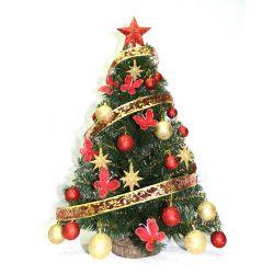 Árbol de Navidad 1.00 m con Kit 30 Piezas Rojo Oro
