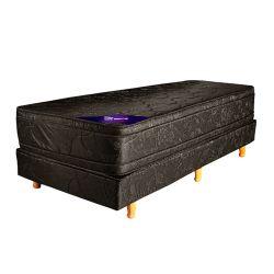 Conjunto RESORTES- EUROPEO PLUS Pillow europeo 190 X 080 gris