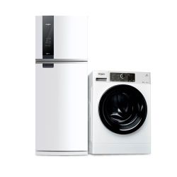 Combo Whirlpool Heladera No Frost WRM56D1 462 Lts + Lavarropas Carga Frontal WLCF85B