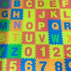 Piso de goma eva letras PGE-ABC Rooby Alfombra antigolpes encastrable