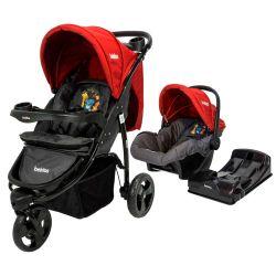 Cochecito de Bebé Bebitos BE 512A Jogger Rojo + Huevito