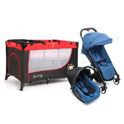 Combo Practicuna Bring 6101 Rojo + Travel System Bring 5205 Azul