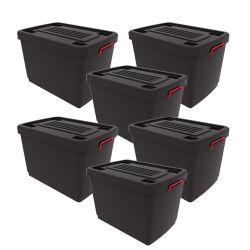 Set de 6 Contenedores Heavy Box 95 Lts