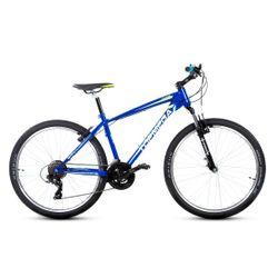 Bicicleta Mountain Bike TopMega Rowen Rodado 26 21 Velocidades Color Verde y Azul