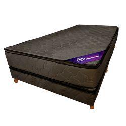 Conjunto RESORTES - Pillow Top 190 X 140 gris