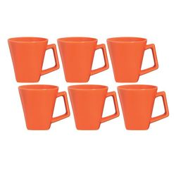 Set x 6 Jarros Mug 220 cc Mini Quartier Biona by Oxford Ceramica Naranja 1993973