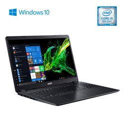 "Notebook Acer 15,6"" Intel Core I5 8265U 4GB 1TB A315-54-559P"