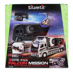 Camión con Helicóptero Falcon Mission 2 en 1