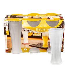 Set de 6 Vasos de Cerveza de Vidrio 348 cc Baviera 1001189