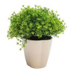 Planta Decorativa Césped Silvestre Artificial en Maceta 18 cm
