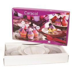 Set de 7 Piezas para Torta Wheaton Brasil Vidrio CARACOL 1001128