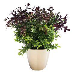 Planta Decorativa Helecho Lila Artificial en Maceta 23 cm