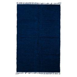 Alfombra Azul de Algodón 120 x 180