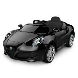 Auto a Bateria Alfa Romeo 12V con Asiento de Cuero 3024 Color Negro