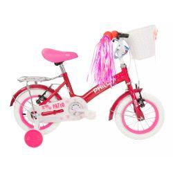 """Bicicleta Infantil Rodado 12"""" Philco Patio Rosa"""