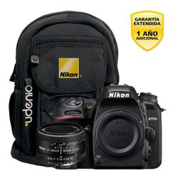 Camara Nikon D7500 DX 20.9MP Video 4K Super Kit 50mm f1.8D con mochila