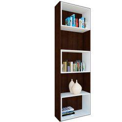 Biblioteca Oficina Wengue Cubos Blancos