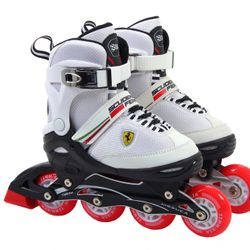 Rollers Para Niños Ferrari FK16 Blanco Talle 34-37 Extensible