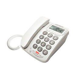 Teléfono con cable de mesa DTP215B Blanco