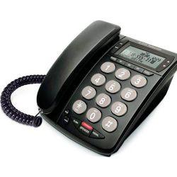 Teléfono con cable de mesa DTP215N Negro