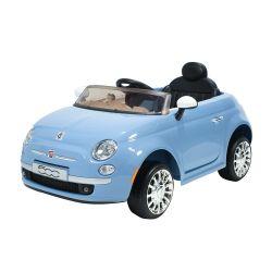 Auto a Batería Bebitos Fiat 500 Celeste