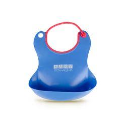 Babero de silicona con bolsillo contenedor Baby Innovation Azul