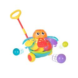 Juguete Didáctico Pulpo Playgro Push Along Ball Popping Octopus
