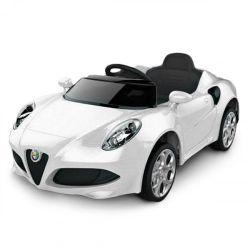 Auto a Bateria Alfa Romeo 12V con Asiento de Cuero 3024 Color Blanco