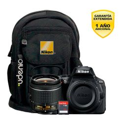Camara Nikon D5600 DX 24.2MP Video Full HD Super Kit 18-55mm con Mochila