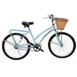 Bicicleta JVK Bikes Rodado 24 Celeste y Blanco FULL VINTAGE LORELEY