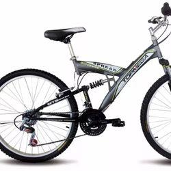 Bicicleta Mountain Bike TopMega Spread Rodado 20 18 Velocidades Color Gris