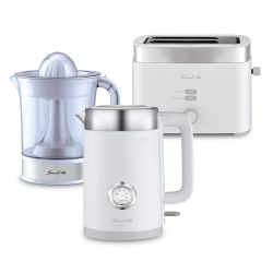 Combo Desayuno Smart-Tek BS600 Pava eléctrica + Tostadora + Exprimidor