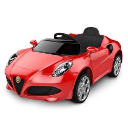 Auto a Bateria Alfa Romeo 12V con Asiento de Cuero 3024 Color Rojo