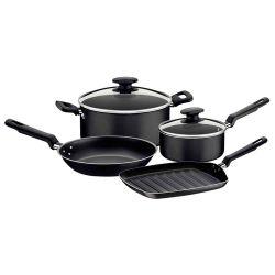 Bateria de Cocina Loreto con Revestimiento Interno Antiadherente Negro 4 piezas