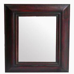 Espejo Patina Rojiza de Madera 85 cm x 110 cm