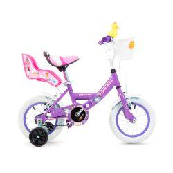 Bicicleta Cross TopMega Princess Lila Rodado 12 Nena con Rueditas