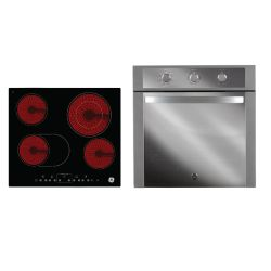 Combo GE Appliances Horno a Gas HGGE6053I + Anafe Eléctrico Vitrocerámico AEGE62PV