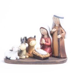 Pesebre Sagrada familia  y animales 13 cm BSL