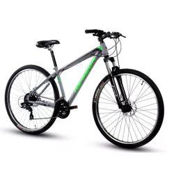 Bicicleta Mountain Bike TopMega Mustang Rodado 29 - 21 Velocidades Gris Verde