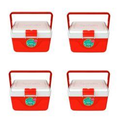 Set de 4 Heladeritas Conservadoras Garden Life Infantil 6,7 Lt Rojo