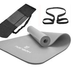 Colchoneta Yoga Ranbak 732 Gris NBR 1800x600x10mm con Bolso