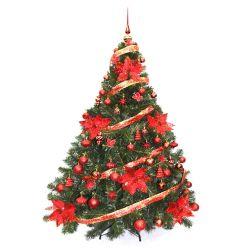 Árbol de Navidad Bariloche 1.60 Mts con Adornos Rojo