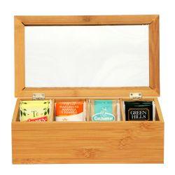 Caja Organizadora de Bambú para Té