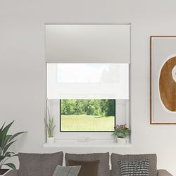Cortina Roller Doble BlackOut y Screen 6 Blanco 1,60 x 1,65